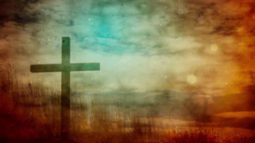 Grunge Style Background Themed On The Crucifixion Of