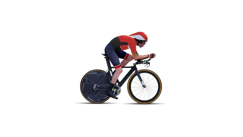 33ba71d5908 Cyclist Cycling Animation with White Stock Footage Video (100 ...