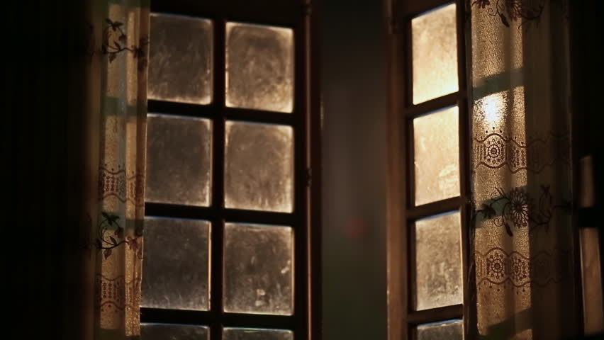 Old Dirty And Fabulous Window Opens Outwards Night Time