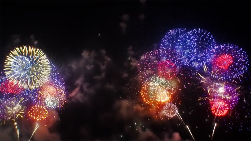 Multiple fireworks