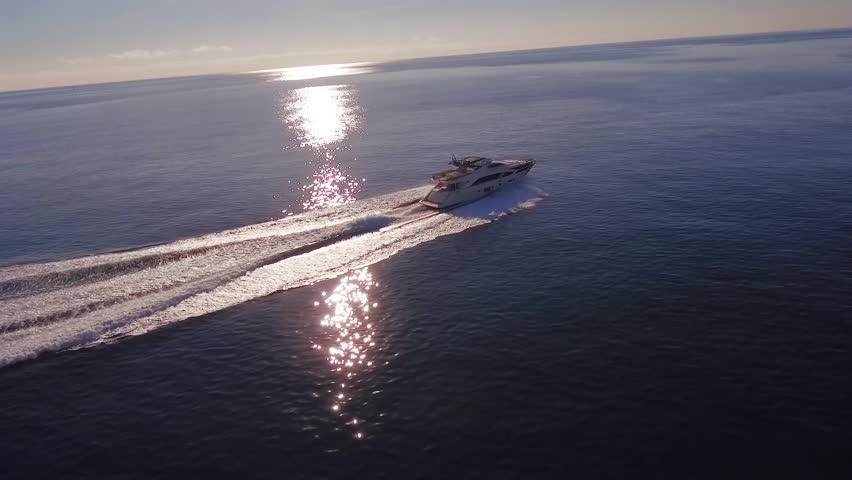 luxury yacht, aerial view italian shipyard PERMARE #24343913