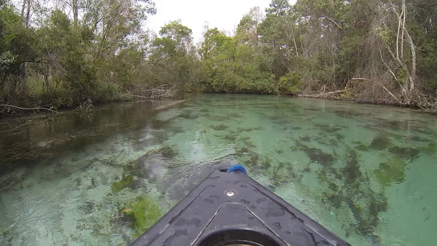 Weeki Wachee, FLORIDA USA - DECEMBER 19, 2016  River Boat Traveling, Canoe, Kayak In Crystal River | Shutterstock HD Video #24351443