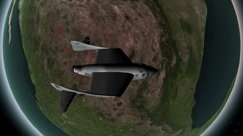 high-altitude research rocket animation, designed for sub-orbital flights. HD