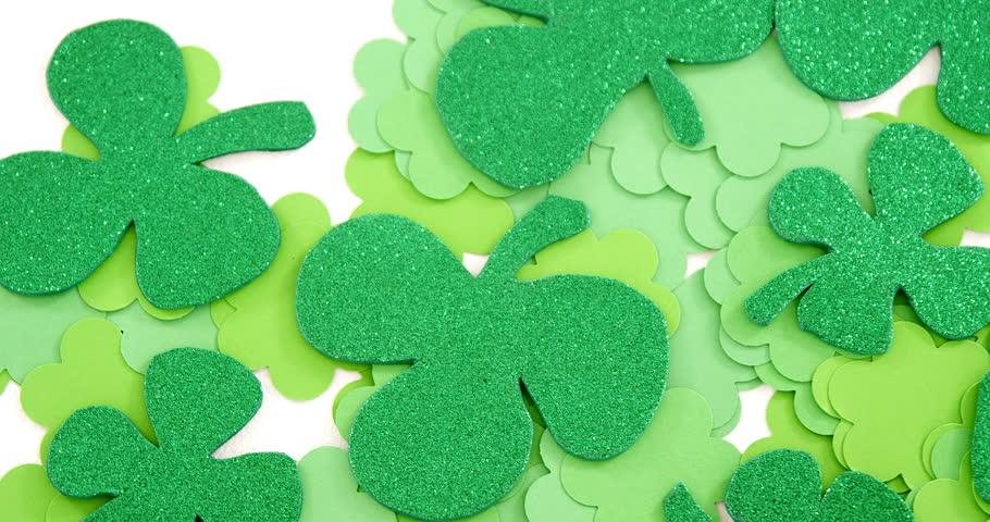 Shamrocks on table for st patricks day high quality