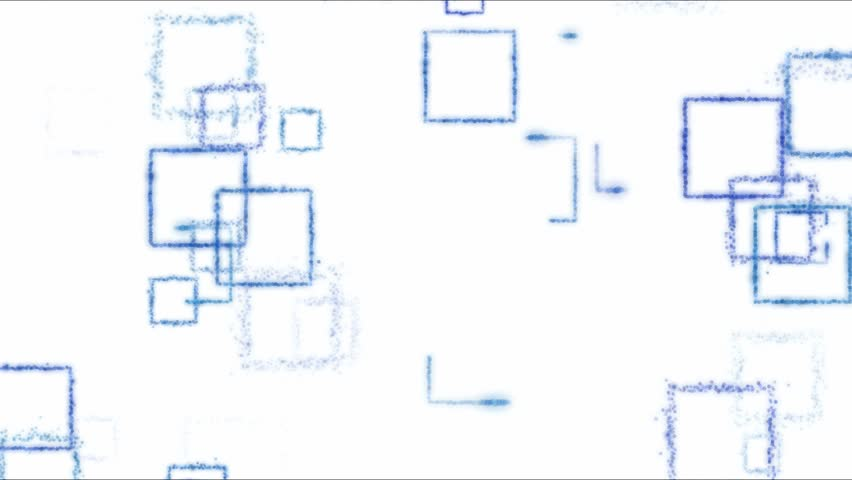 Drawing Square Shapes on White Background - Loop Blue | Shutterstock HD Video #24465500