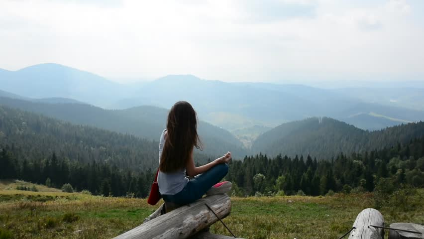 In the mountains a girl breathes in the woods pure and for Best mountain towns to live and work