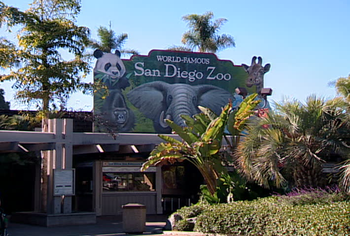 SAN DIEGO - Circa 2002: Facade of the San Diego Zoo in 2002.
