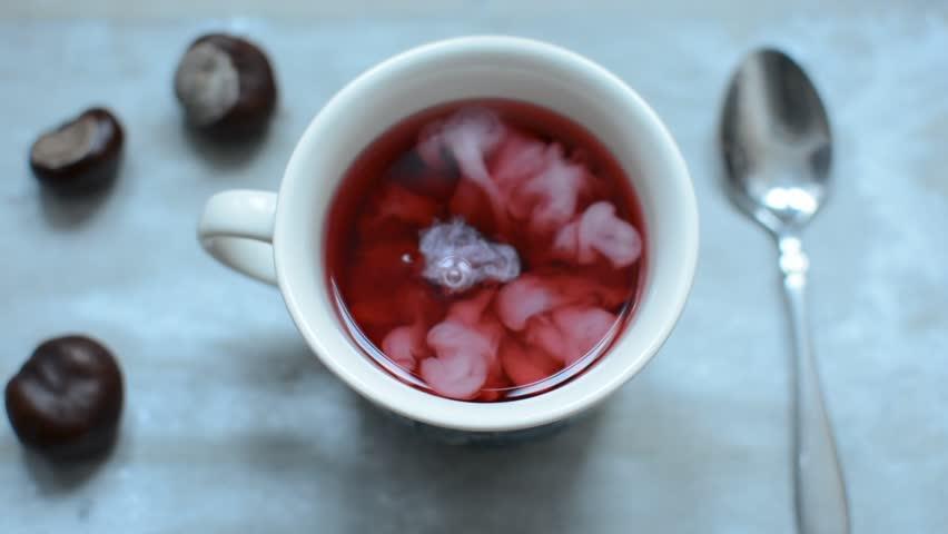 Header of red tea