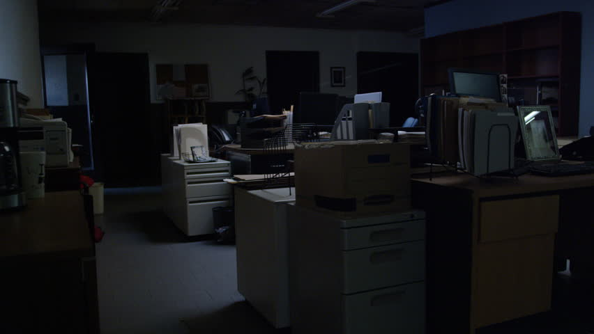 Walk through a police precinct at night