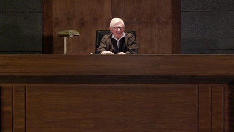 Judge delivering judgement to the court