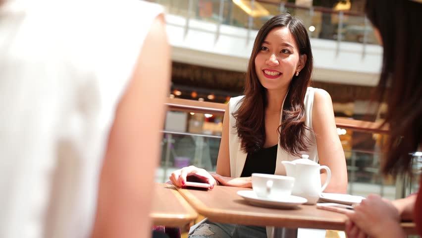 Girls gathering in coffee shop | Shutterstock HD Video #24710525