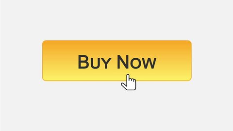 Buy now web interface button clicked with mouse cursor, different color choice