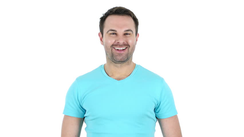 Online Video Chat, Talking Middle Aged Man, White Background | Shutterstock HD Video #24827840