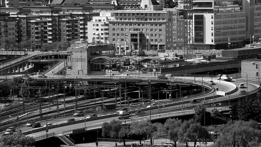 Traffic in central Stockholm, Sweden. | Shutterstock HD Video #2484398
