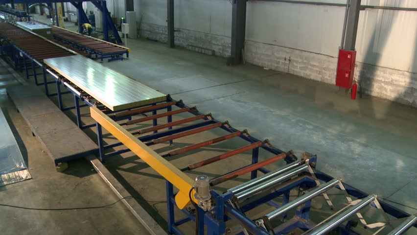 Sandwich Panel Production Line View Stock Footage Video (100% Royalty-free)  24875873 | Shutterstock