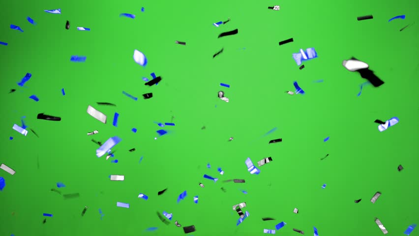 Real Confetti falling  soft and beautiful in the colors black pink with  Green screen for party and celebrations | Shutterstock HD Video #24915983