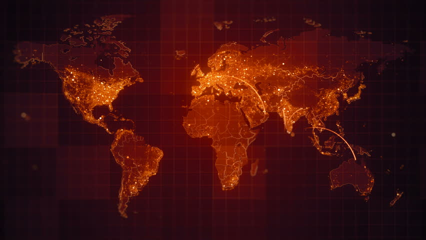 Global blue world map loop this animated world map with visual connection red world map loop this animated world map with visual effects and flying glowing gumiabroncs Image collections
