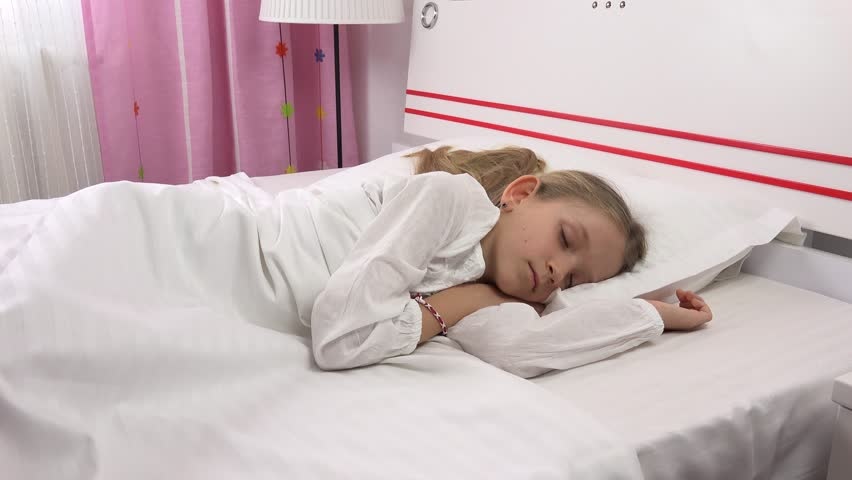 4K Sleeping Child In Bed, Stock Footage Video 100 Royalty-Free 25002713  Shutterstock-3714