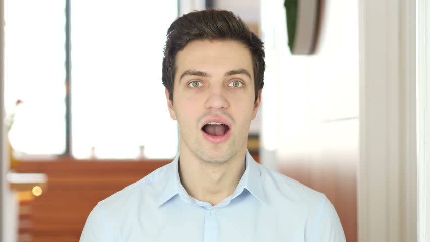 Amazed by Surprise Man, Indoor | Shutterstock HD Video #25016963
