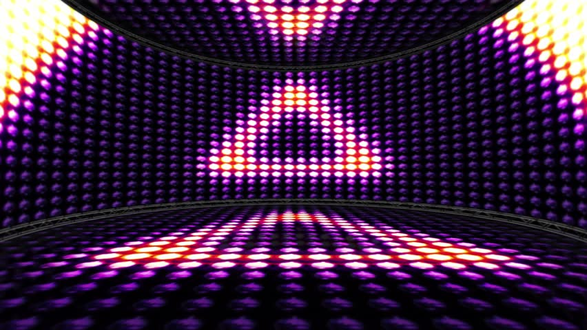 Triangles Lights Bulbs Animation, Background and Room, Rendering, Disco Dance, Loop, 4k  | Shutterstock HD Video #25121813