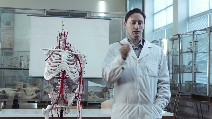 Stock video of medical professor in anatomy class with | 25129604 ...