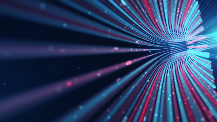 Abstract background with animation moving of lines for fiber optic network. Magic flickering dots or glowing flying lines. Animation of seamless loop. | Shutterstock HD Video #25152533