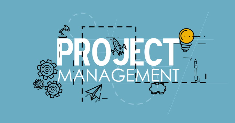 Project Management Strategy Process Planning Stock Footage