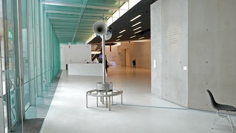 Hall National Museum of the XXI century (MAXXI) Rome, Italy - February 21, 2015: is a national museum of contemporary art and architecture.
