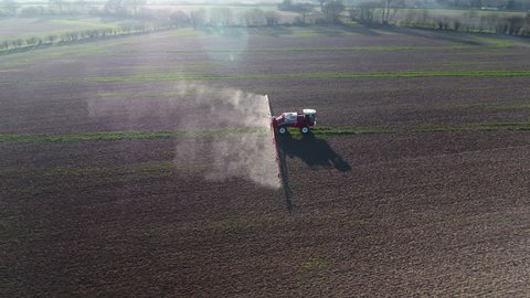 Fields on an Arable Farm Being Sprayed with Glyphosate