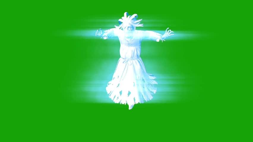 Ghost Hangman Horror Front Green Screen 3D Rendering
