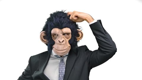 Monkey man thinking