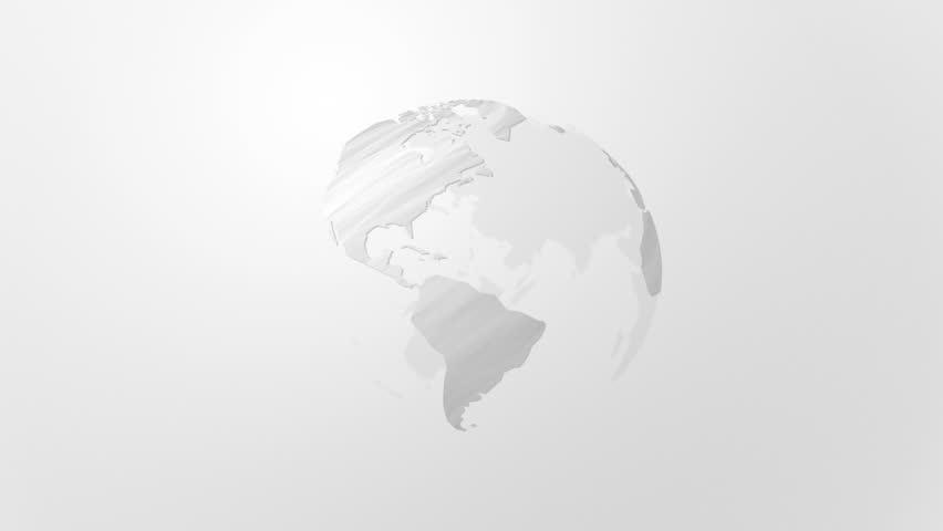 earth map abstract rotating loop