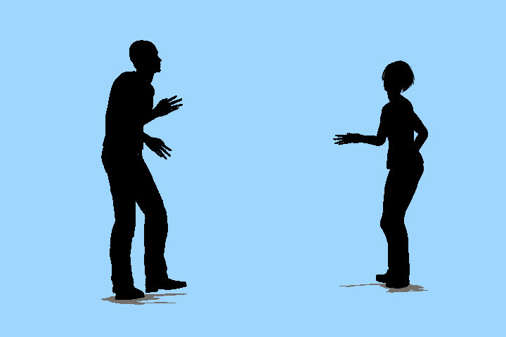 Animations of people that move