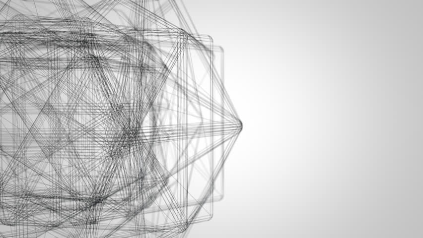 Abstract wire shape network seamless loop   Shutterstock HD Video #2531213