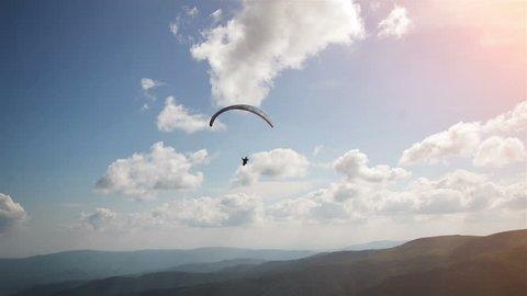 Following Parachute silhouette