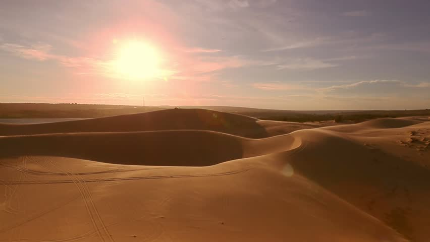 3D Animated Desert With Dunes And Sand Stock Footage Video ...