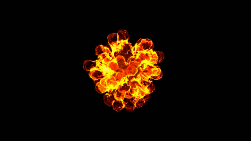 Fire Ball With Alpha Channel (no background)