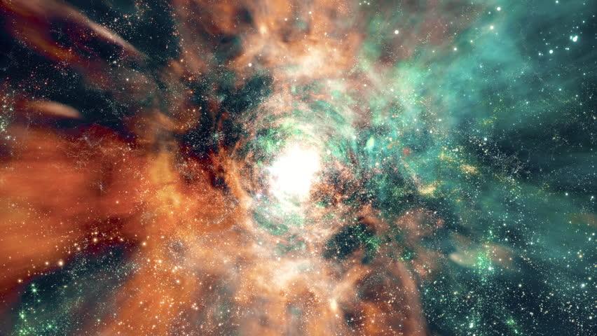 Space 2240: Flying through star fields and galaxies in deep space (Loop).   Shutterstock HD Video #25363253