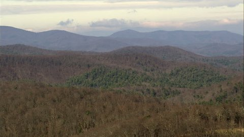Ridge Lines In Chattahoochee National Forest United States, Lumpkin County-2008