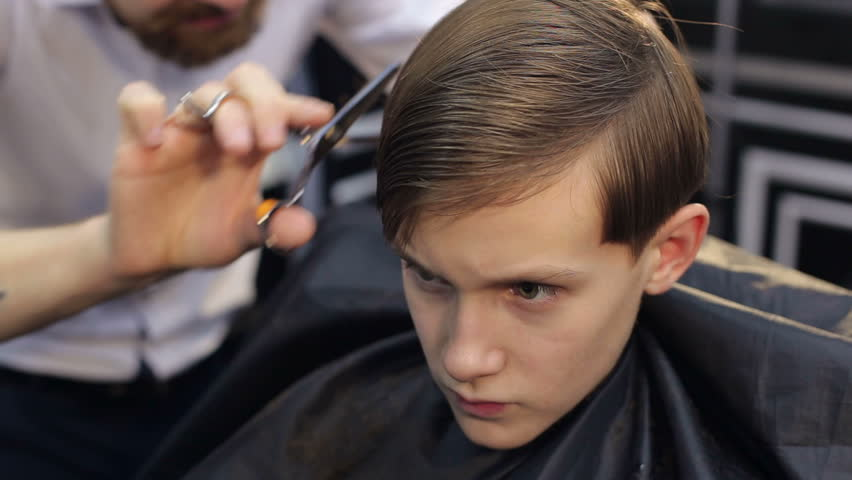 The Barber Is Cutting A Stock Footage Video 100 Royalty Free
