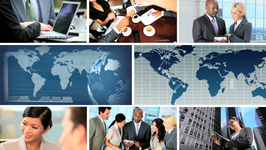 Global business montage images featuring successful achievements, worldwide   Shutterstock HD Video #2539733