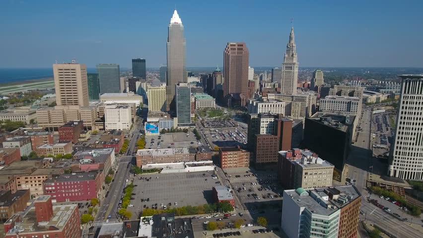 Aerial Ohio Cleveland September 2016 4K