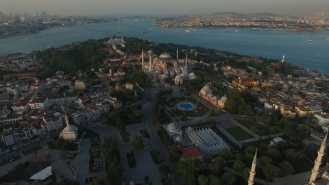Sultanahmet Aerial view, Historic istanbul,