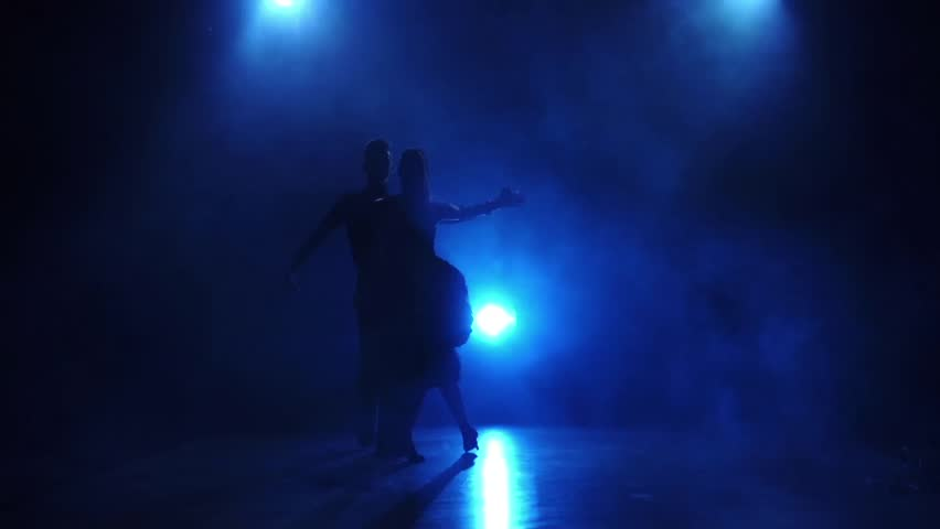 Silhouette of pair dancers performing tango dance in slow motion - HD stock footage clip & Backstage Theater Fly Tower Track From Lights To Scenery Fly ... azcodes.com