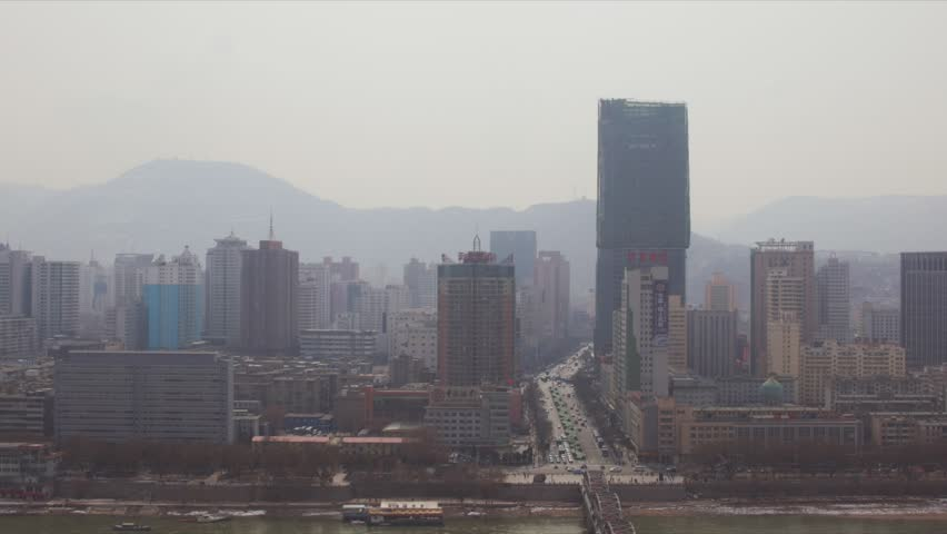February 22, 2017: Lanzhou, the largest city of Gansou Province in Northwest China
