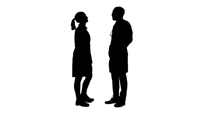 Silhouette of a woman & child standing and showing ...