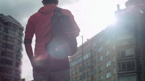 Student City Sun walking