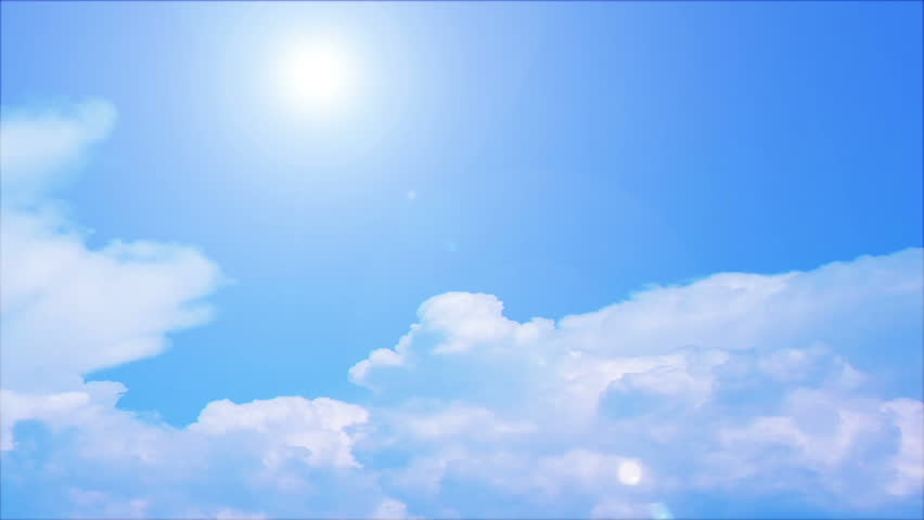 Sky Clouds Formation Blue Sky Stock Footage Video 100