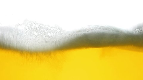 beer foam wave loop hd video