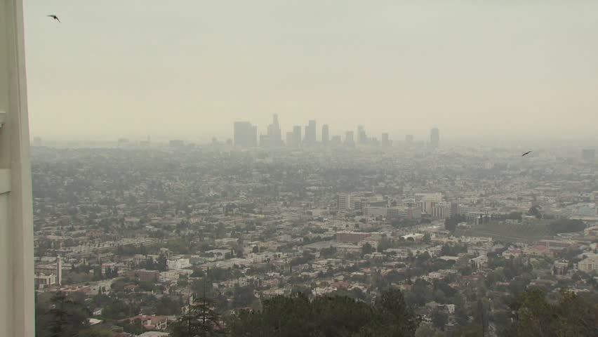 Los angeles smog downtown metropolitan city haze sunlight aerial view of los angeles california 3 hd stock video clip sciox Gallery